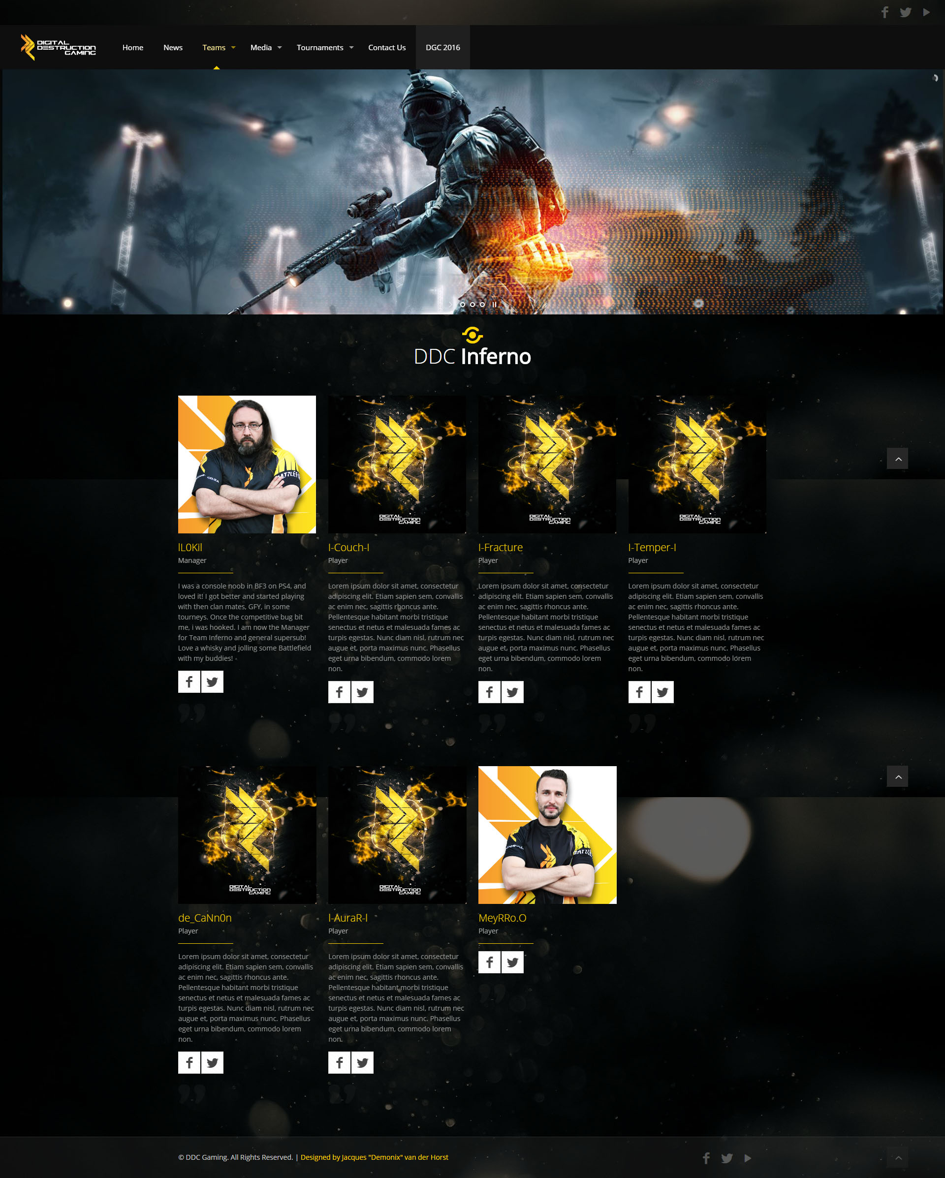 DDC Gaming Page View