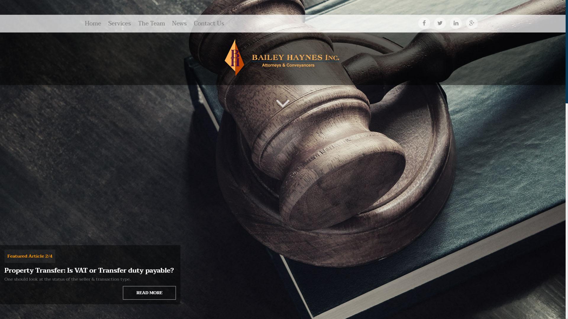 Baily Haynes Website