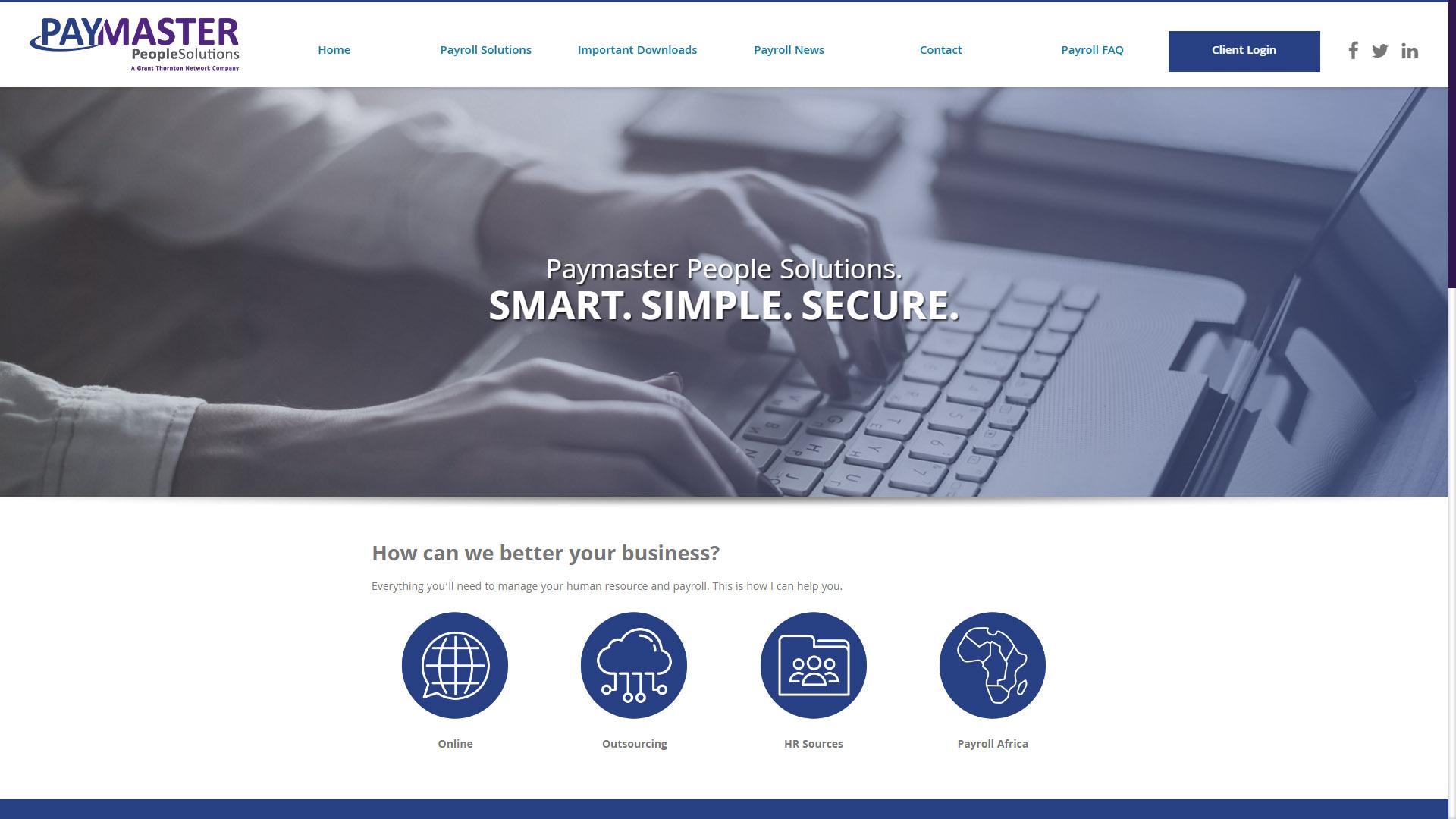 Paymaster Website